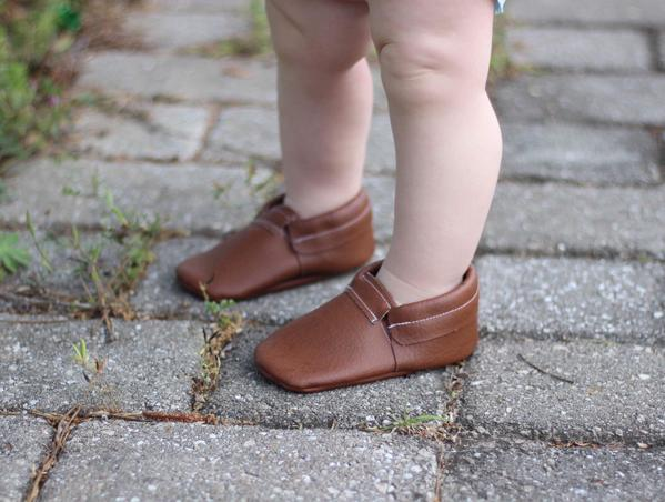 Brown Leather Loafer Moccasins