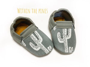 Gray Cactus Loafer Moccasins