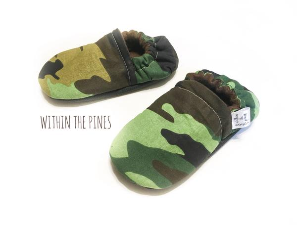 Camouflage Green Moccasins