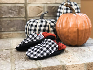 Gingham Rust Moccs