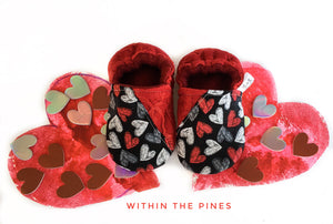 Chalkboard Heart Valentines Day Moccs