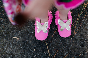 Butterfly Moccasins // Pink, Blush, Mint