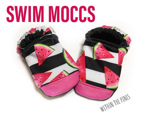 SWIM MOCCS// Watermelon Stripe