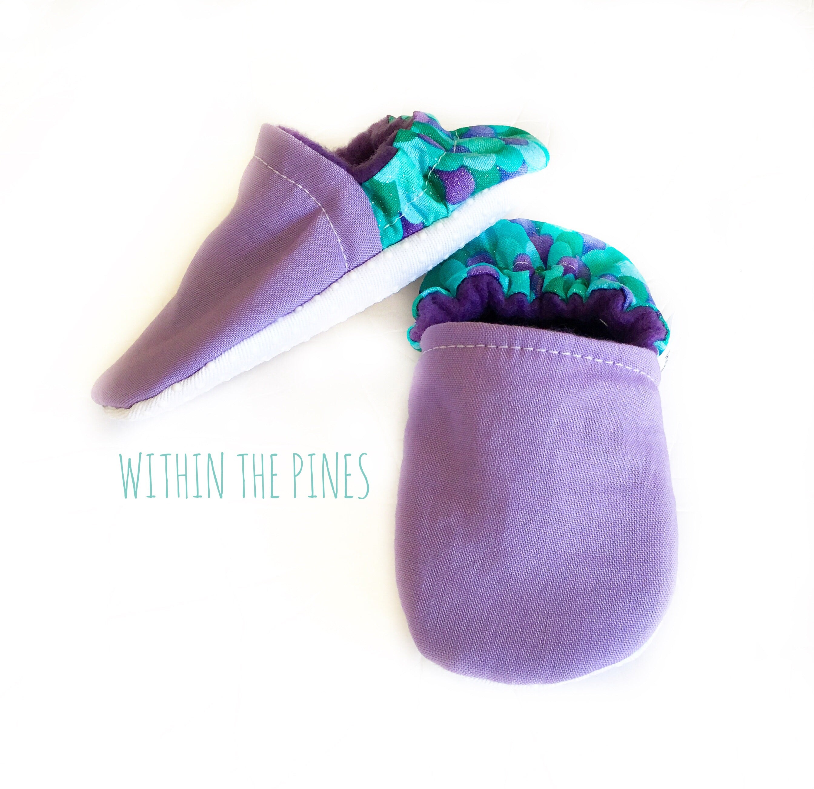 Purple Mermaid Moccasins