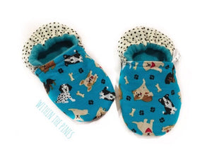 Blue Puppy Dog Moccs