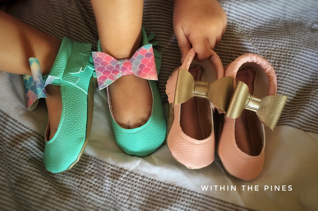 Mary Jane Ballet Flats with Bow / 14 Colors Available
