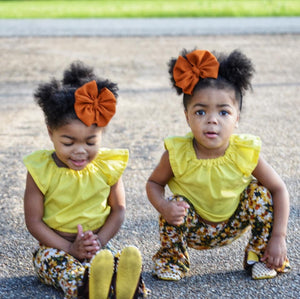 Sunflower Bow Moccasins