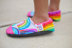 Watercolor Rainbow Baby Moccasins