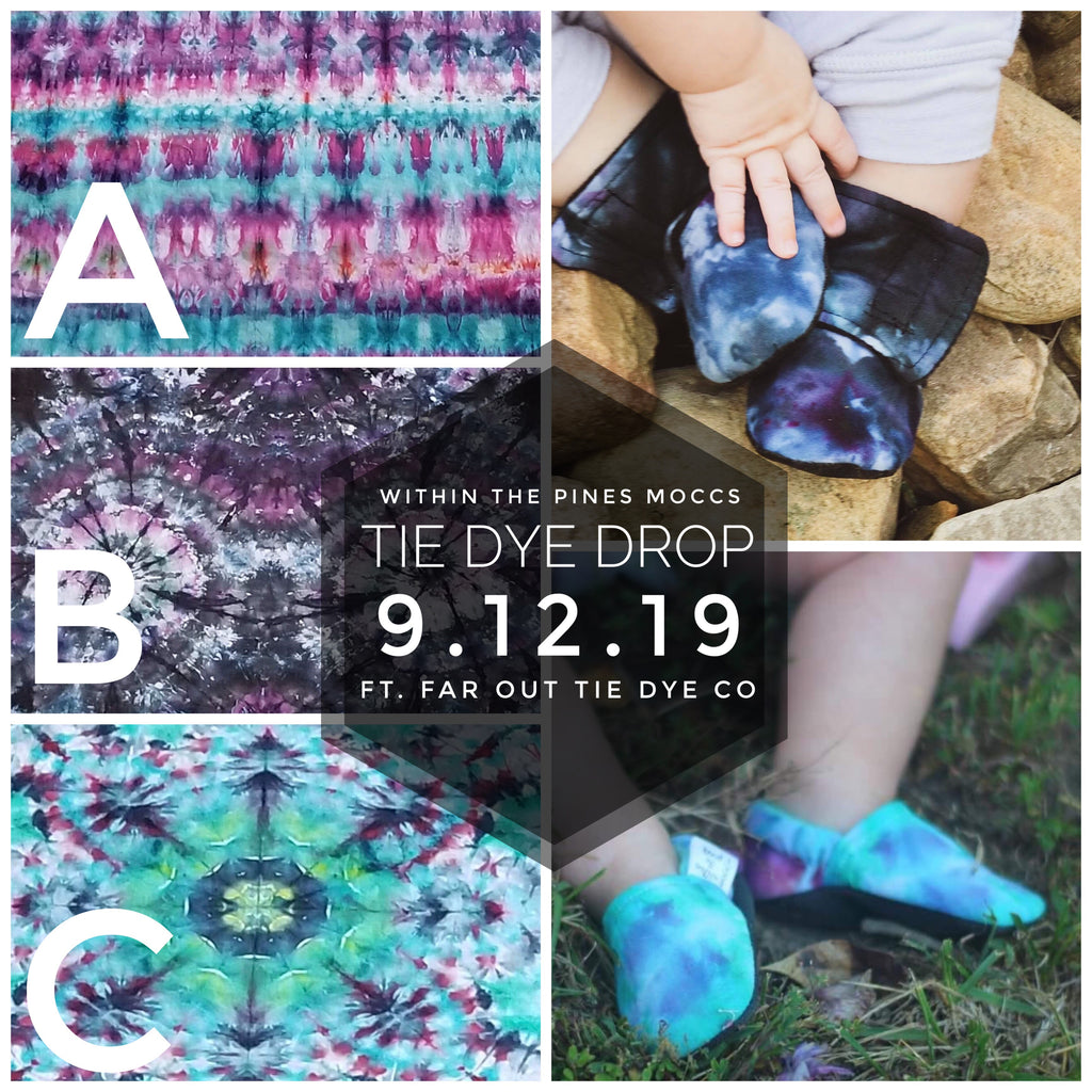 Tye Dye Moccs ft Hand Dyed Fabric From Far Out Tie Dye Co.