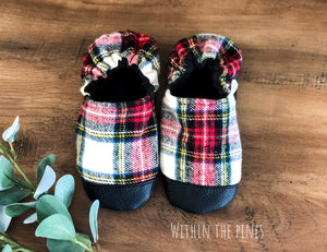 Cozy Flannel Moccasins