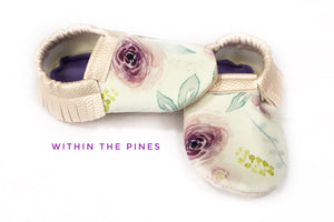 Spring Watercolor Floral Moccs