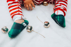 Buffalo Plaid Green Moccasins