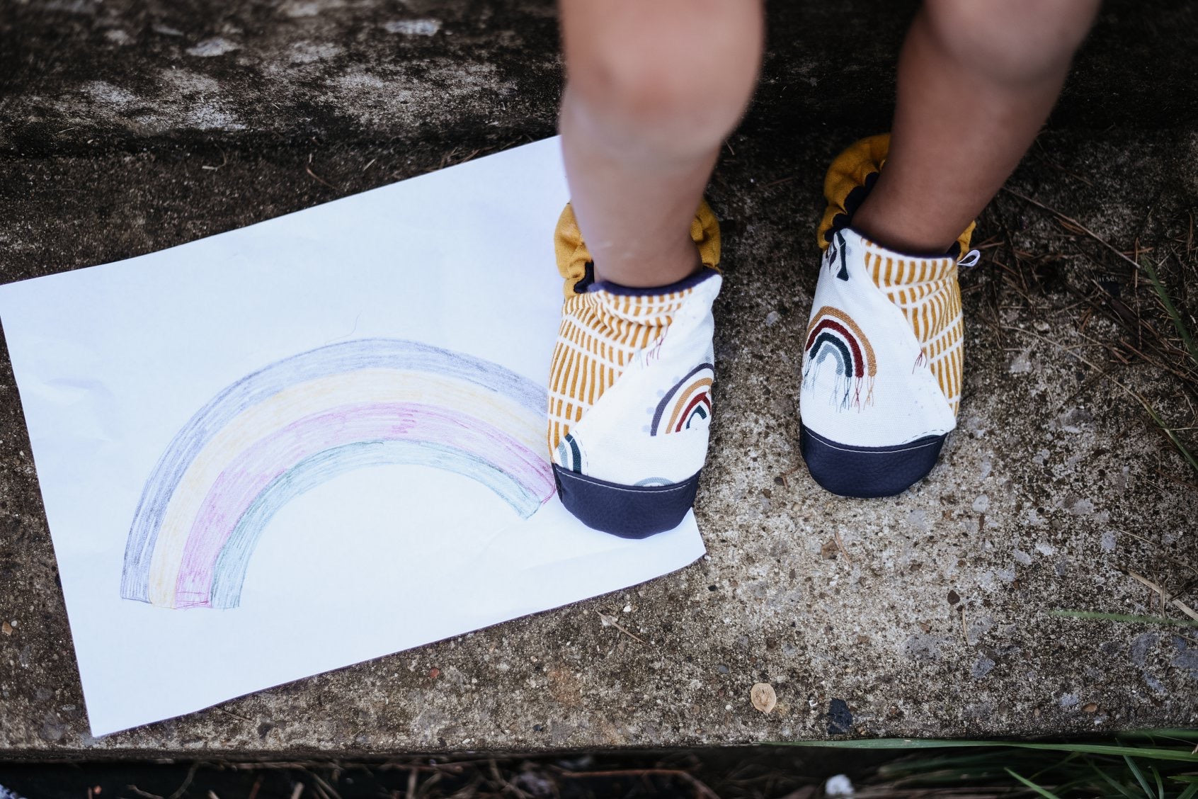 Rainbow Earth Tone Hightop  Moccs