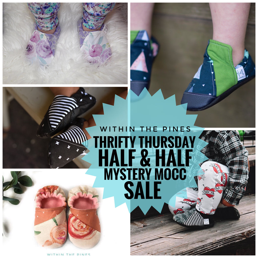Half & Half Thrifty Thursday Grab Bag Moccs