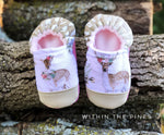 Whimsical Deer Moccasins