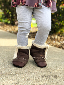 Sherpa Suede Wrap Around Boots