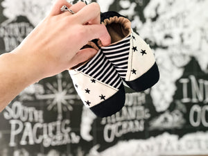 Stars & Stripes Half and Half Moccs
