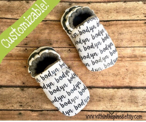 Custom Name Moccasins