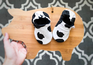 Cow Print Moccasins