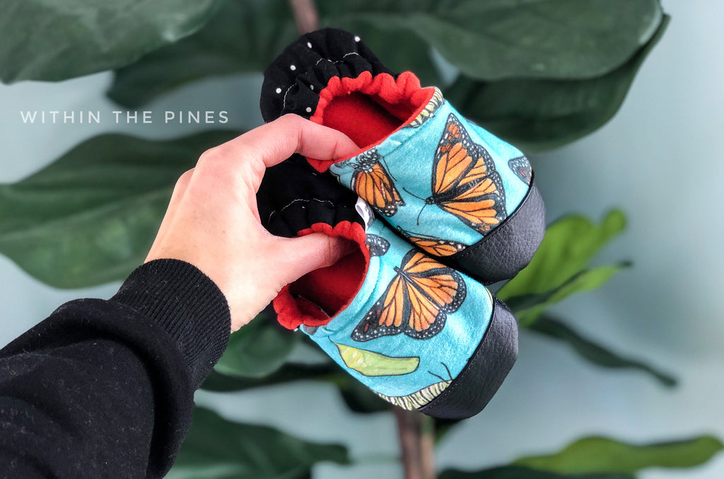 Spring Butterfly Moccs