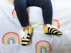 Bumble Bee Vegan Leather Moccasins