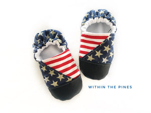 Stars & Stripes Patriotic Moccs