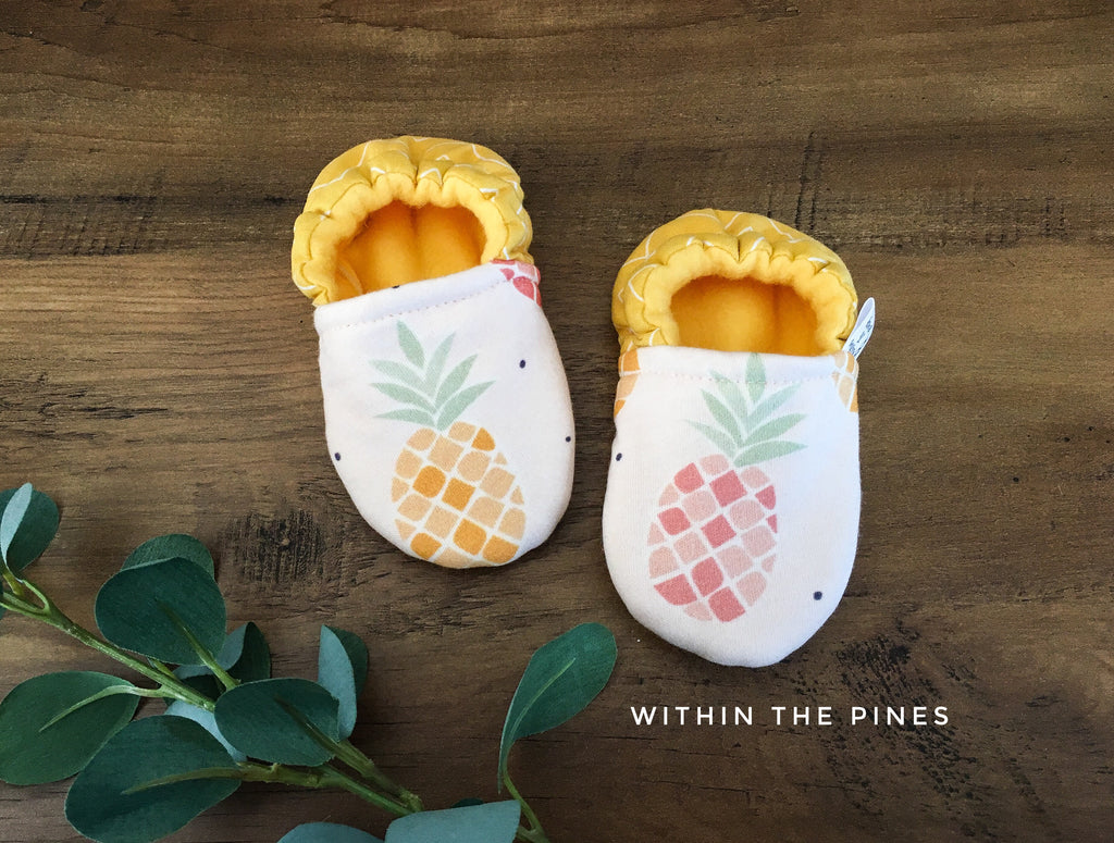 Summer Pineapple Moccasins