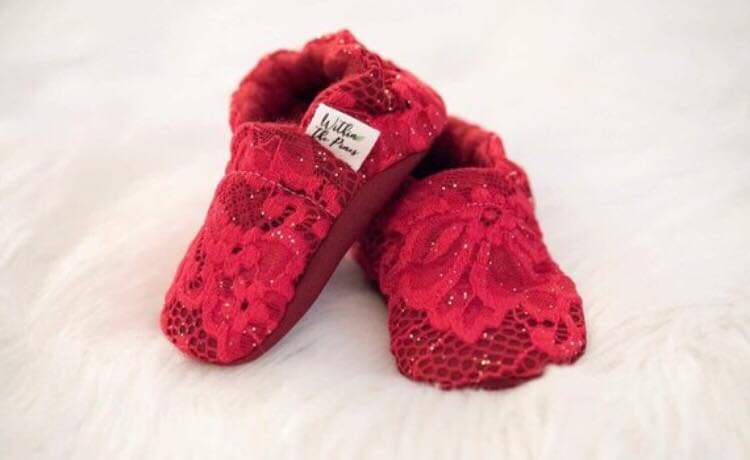 Red Lace Moccasins