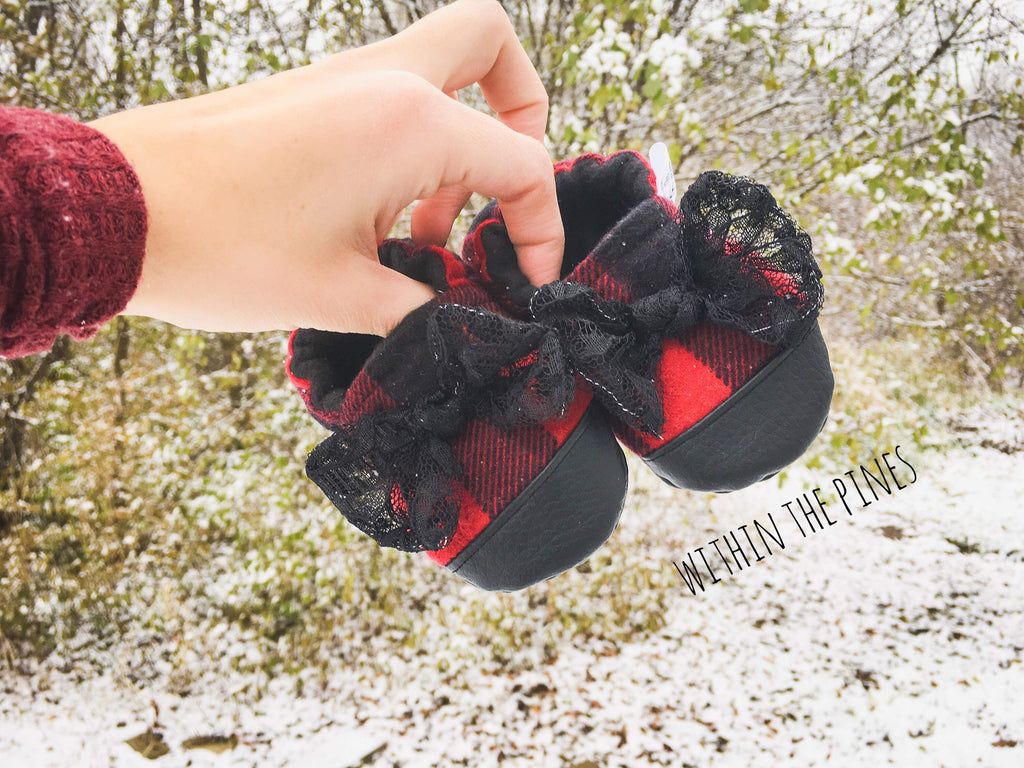 Buffalo Plaid with Bow Moccasin