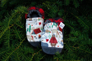 Winter Animals Camping Moccasins