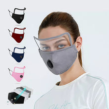Load image into Gallery viewer, Cotton Mask with Eyes Shield & Breath Valve - DuaMask