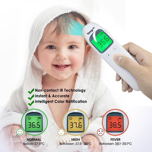 Temp™ - High-End Digital Non Contact Infrared Thermometer - DuaMask