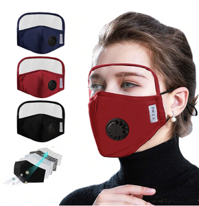 Cotton Mask with Eyes Shield & Breath Valve - DuaMask