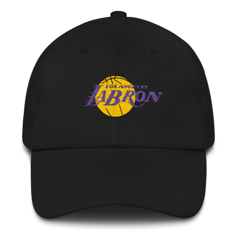 LAbron   Los Angeles Lakers Dad Hat – Trendymarketsstore aa2fb6d004a