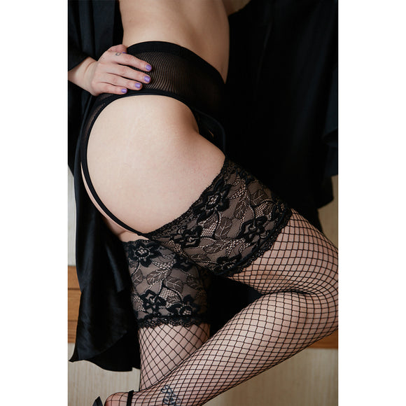GARTER STOCKING BLACK