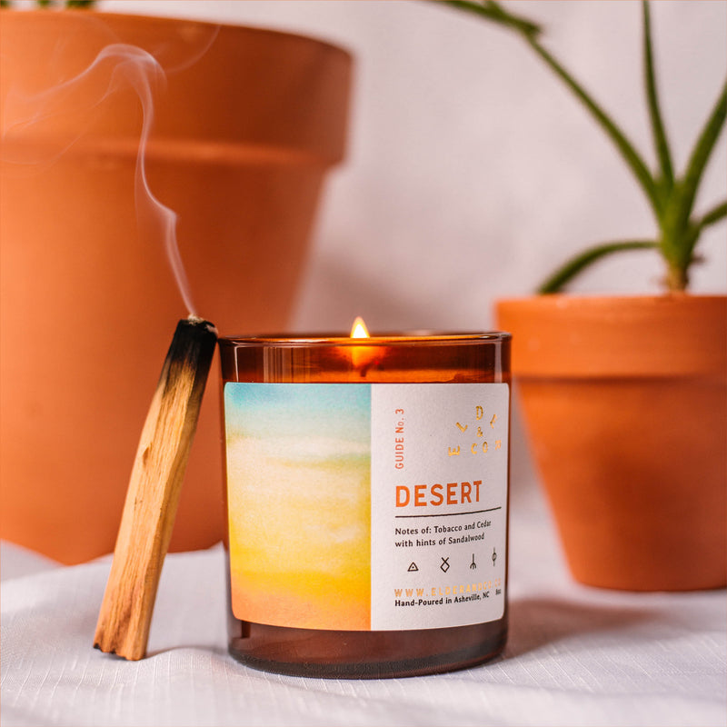 desert soy candle