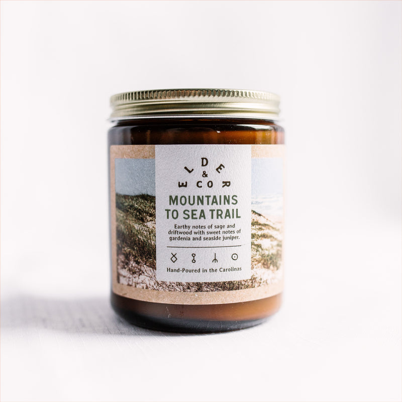 Mountains to Sea Candle