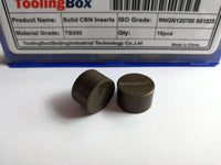 Solid CBN insert RNMN120700 TB200 for hardened steel turning