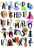 Alphabet Illustration Nursery Decor