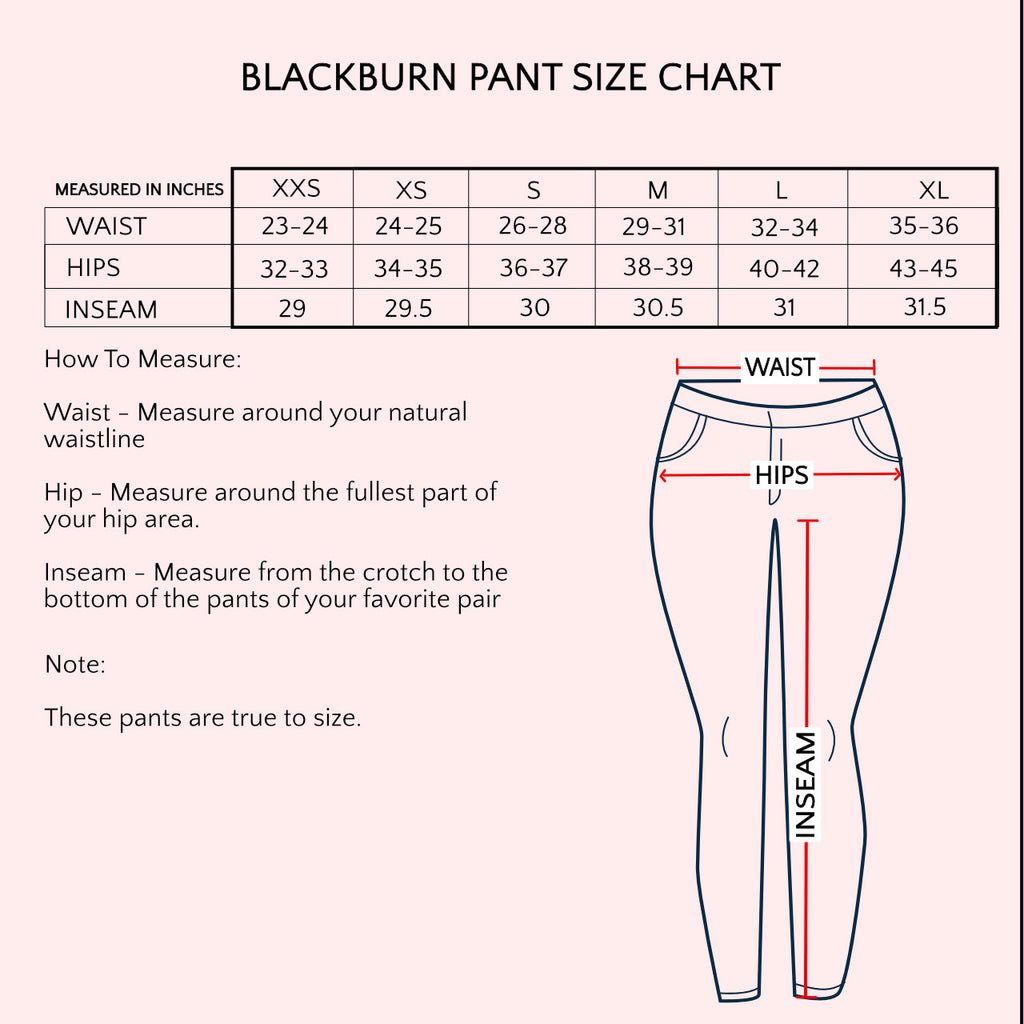 Black Finch Scrubs Blackburn Pans Size Chart