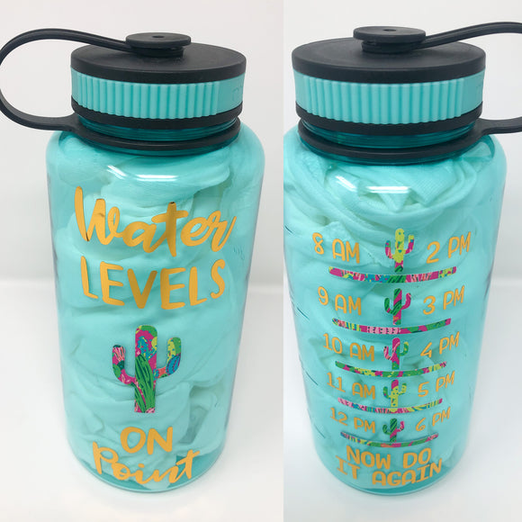 Cactus Water Bottle with Tracker