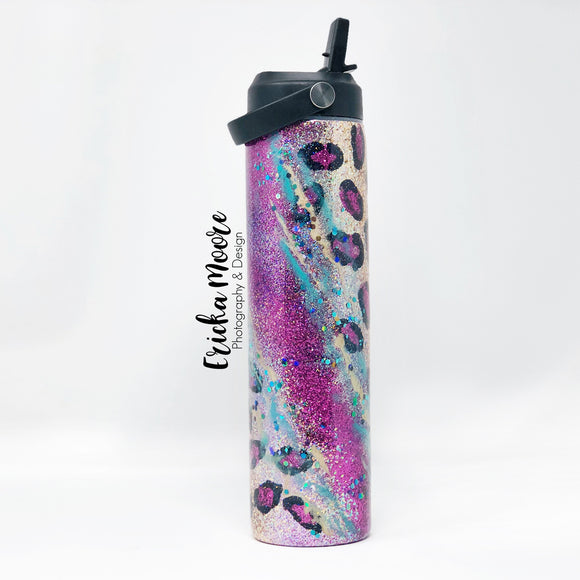 Purple Gypsy Leopard Tumbler