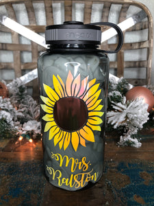 Sunflower Water Tracker Bottle