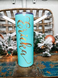 Mint Personalized Skinny Tumbler