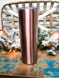 Rose Gold Personalized Skinny Tumbler