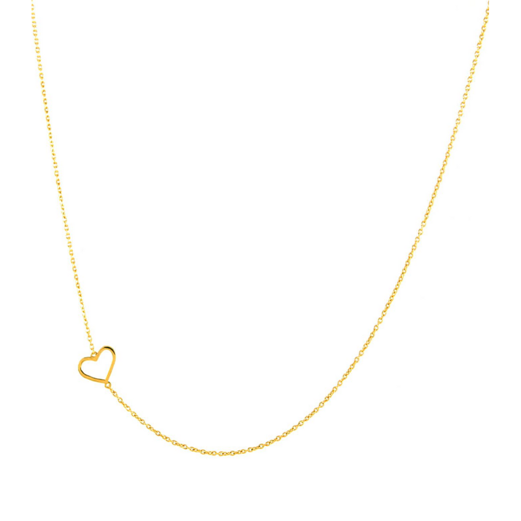 14K HEART NECKLACE