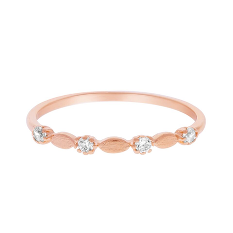 MATTE ROSIE RING ROSE GOLD