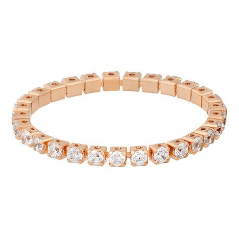 TENNIS BLING RING ROSE GOLD