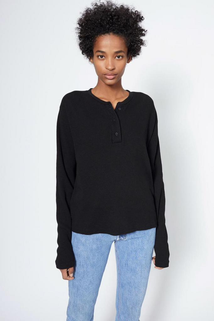 HENLEY THERMAL L/S BLACK