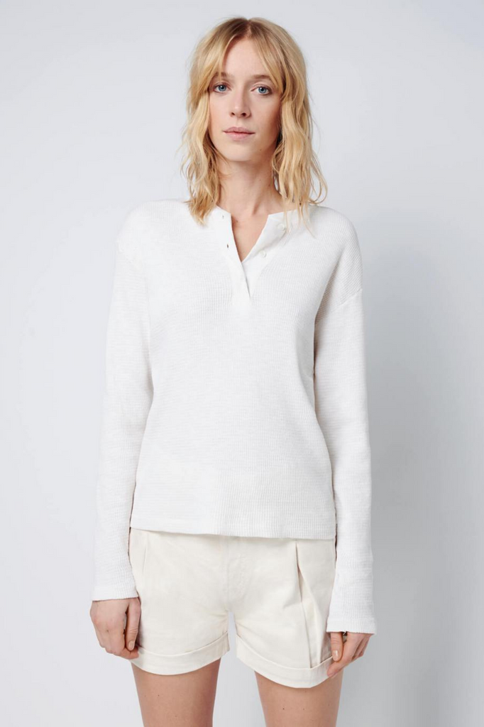 HENLEY THERMAL L/S WHITE